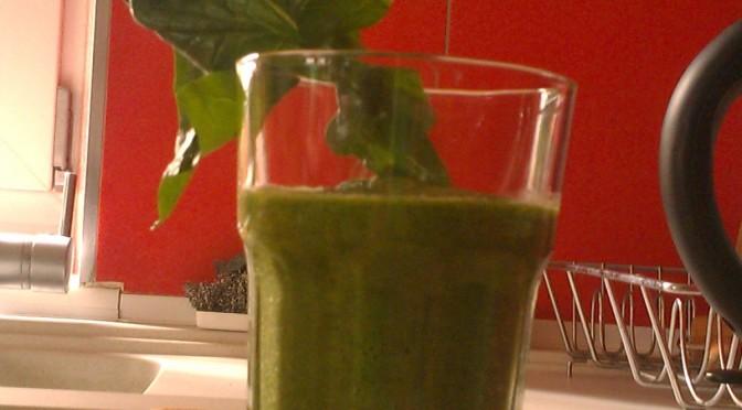 Nahrungsergänzungsmittel in grün