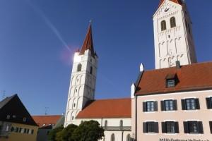 Türme des Münster zu Moosburg/Isar