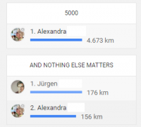 Challenges bei Endomondo