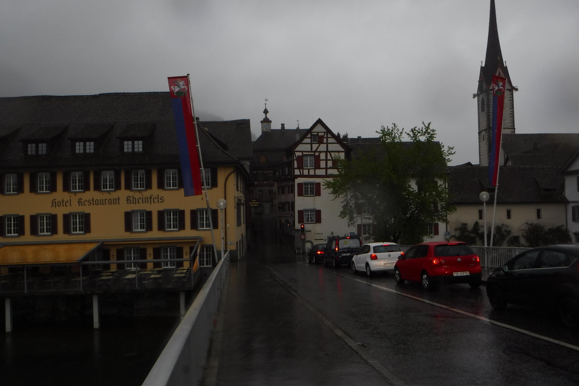 Stein am Rhein und im Regen